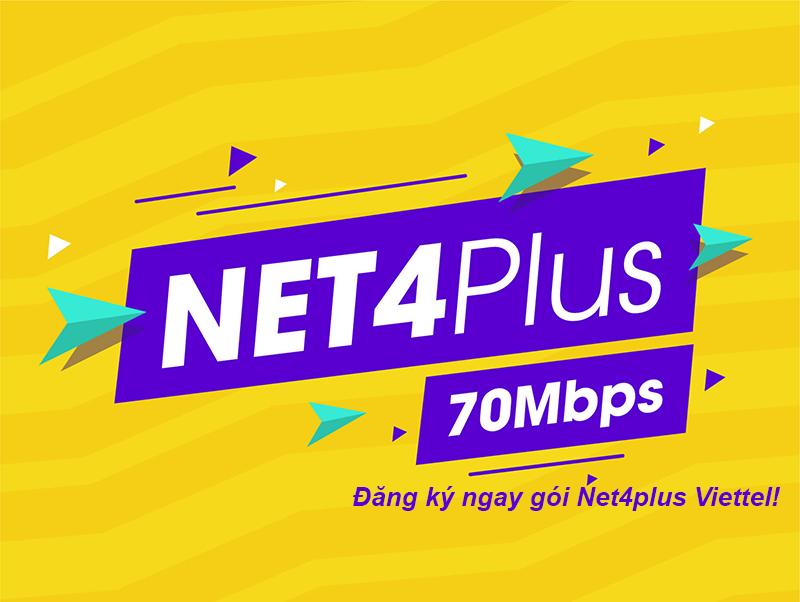 Đăng ký gói Net4plus Viettel