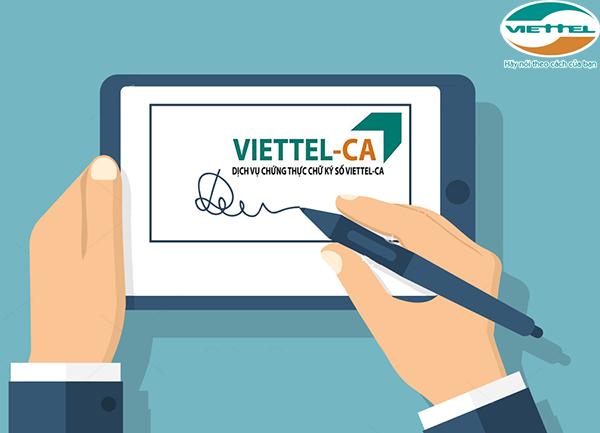 Dịch vụ chứng thực chữ ký số Viettel-CA