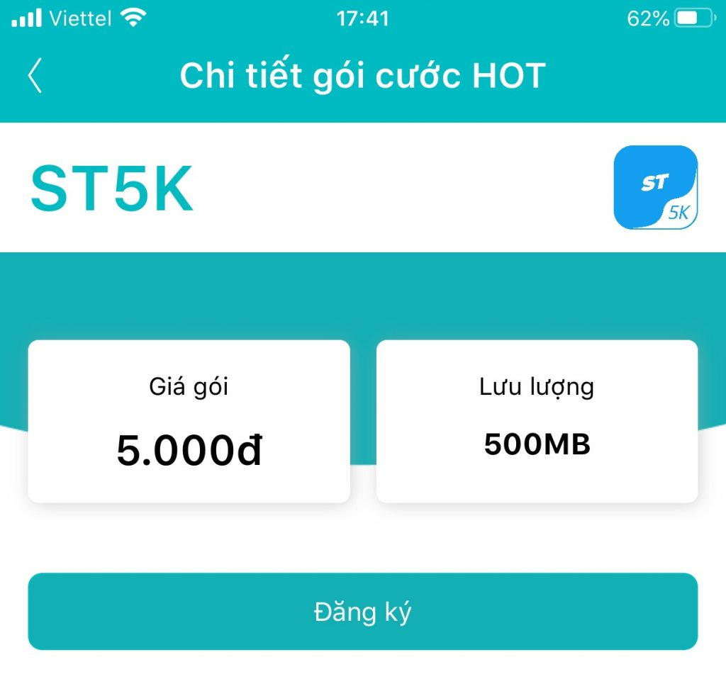 Hướng dẫn đăng ký gói ST5K Viettel có 500MB giá rẻ chỉ 5.000đ
