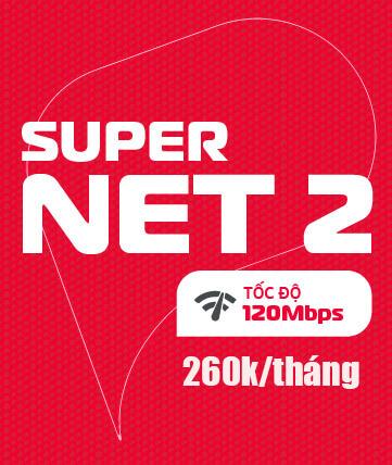 Gói SUPERNET2 Viettel - Home WiFi 120Mbps giá 260k/tháng