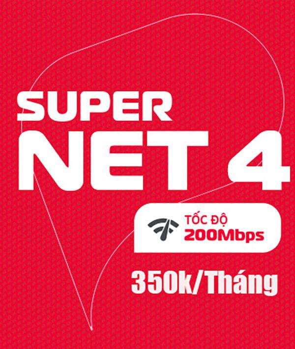 Gói SUPERNET4 Viettel – Home WiFi 200Mbps giá 350k/tháng