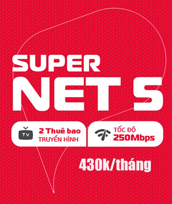 Gói SUPERNET5 Viettel – Home WiFi 250Mbps giá 430k/tháng